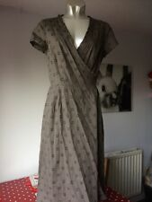 Ladies Boden Brown Wrap Dress Size 10