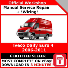 FACTORY WORKSHOP SERVICE REPAIR MANUAL IVECO DAILY EURO 4 2006 - 2011