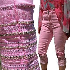 Mozzaar Capri Baggy Jeans Damen Neon pink gelb grün S-M-L-XL-2XL Short Hose