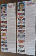 1983-84 Esso Canada Complete FRENCH Scratch-off Cash Game Hockey Set (21)