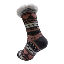 LADIES WARM THERMAL INSULATED THICK WINTER SOCKS 4.7 TOG UK 6-11 399D GREY HEEL