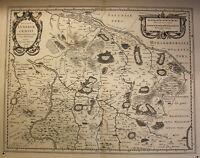 Kupferstichkartevon J. Mellinger Ducatus Lünebuyensis um 1650 Lüneburg sf