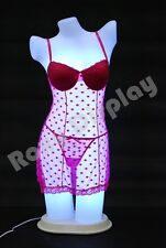 Female Unbreakable Full Round Plastic Mannequin Torso with LED light PS-LF-LED