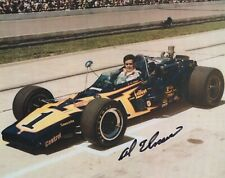 AL UNSER HAND SIGNED 8x10 COLOR PHOTO+COA         FOUR TIME INDY 500 CHAMPION