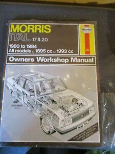 714 Haynes Manual Morris Marina 1.7 2.0 1980-1984 1695cc 1993cc