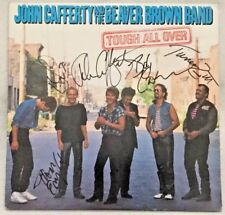 """Autographed/Signed John Cafferty And The Beaver Brown Band """"Tough All Over� Lp"""