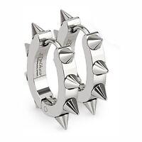 Spike Hoop Earrings 12mm - Hypoallergenic SURGICAL STEEL - BOXED