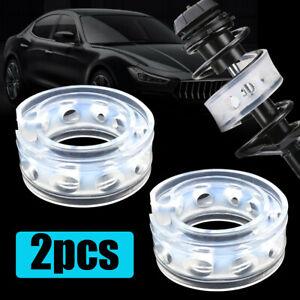 2pcs White Rubber Shock Absorber Spring Type B Car Bumper Buffer Power Cushion