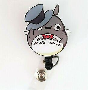 Totoro Badge Reel, Retractable ID Badge, Stethoscope ID