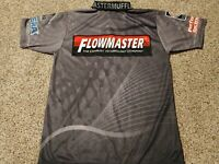 Flowmaster Mufflers Large Pit Crew Polyester Polo Shirt Hot Rodders NHRA NASCAR