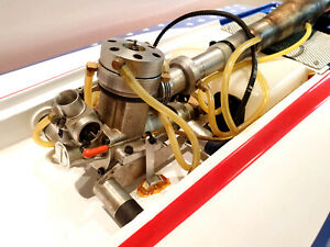 Super rare and powerful RC boat Kalistratov K90 engine with Dave Marles exhaust