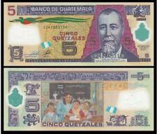 Guatemala 5 Quetzales Polymer 2013 (UNC) 全新 危地马拉 5格查尔 塑料钞 2013年