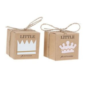 Small Brown Cardboard Gift Box Little Princess Price String Present Craft Sweets