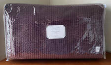 Pottery Barn Monique Lhuillier Velvet Channel Full / Queen Quilt ~ Eggplant