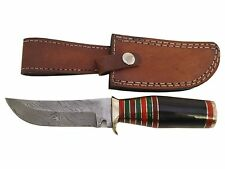 """Pioneer Custom Made DamascusSteel Hunting Knife New With Brass Guard 8.5"""" Pt-243"""