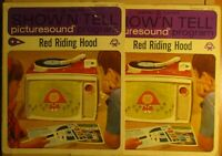 2 General Electric Show Tell picturesound program record covers red riding hood