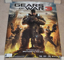 "RARE PROMO Gears of War 3 (3D Heavy) POSTER (22x28"") Brothers To The End 9-20-11"