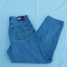 Tommy Hilfiger Jeans 34 x 30 90s Flag Logo 5-Pocket Denim Blue