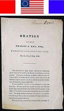 1831 FRANCIS SCOTT KEY 4TH OF JULY Antique Revolutionary War Patriotic US Flag
