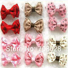 3 X  Dog Hair Clips Puppy Dog Bows Hairpin Pet Dog Grooming Accessories