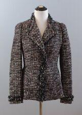 MCGINN Sz 6 Ribbon Boucle Blazer Jacket Chain Trim