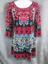 INC International Concepts Knit Dress Size S Tribal Escape Fantasy Swirl Stretch