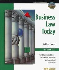 Business Law Today, The Essentials: Text, Summarized Cases, Legal, Eth-ExLibrary