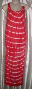 New INGRID & ISABEL MATERNITY Sleeveless Maxi Size L Large Tie Dye Dress NWT
