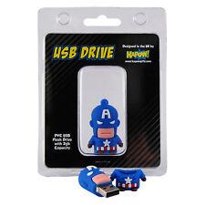 Captain America 2GB Flash Drive. USB Memory Stick Avengers Gift for Fan