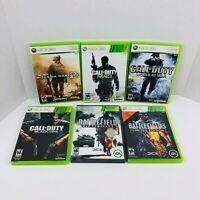 COD MW 2 3 Black Ops World At War Battlefield Bad Company 2 3 Xbox 360 Lot X6