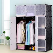 DIY Kleiderschrank Regalsystem Garderobe Regal Steckregal Standregal mit Türen