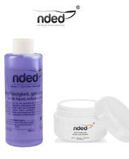 Liquido acrílico reducido olor + acrílico blanco 5g Nded  Nails Porcelana uñas