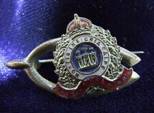 Suffolk Reg WW1 Enamel Sweetheart Horseshoe Brooch 32mm