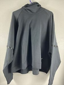 Under Armour x Project Rock Doubleknit Hoodie 1332575 001 Black Women's Small S