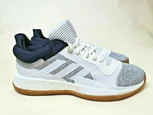 Adidas Marquee Boost Low Basketball D96933 White Black Gray Men's Multi Sizes
