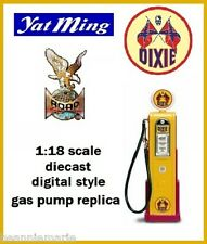 Yatming Digital 1940 's - 1950 's Style Gas Pump ~  Dixie  ~  1:18 scale