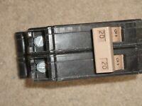 Cutler-Hammer CH220 2 Two-Pole 20 Amp Circuit Breaker 120/240 VAC