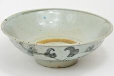 "19th Chinese Qing DEHUA KILN FUJIAN Blue White LARGE 9½"" Porcelain Bowl 清 德化青花福建"