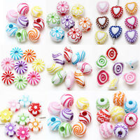 Wholesale Acrylic Loose Spacer Beads Charms Mixed Jewelry Making DIY 9 Styles