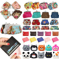 Women Girls Leather Wallet Card Holder Change Coin Purse Clutch Small Clip Bags