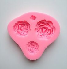 New 4 Design Rose Silicone Fondant Mold Cake Cupcake Flower Embossing Sugarcraft