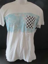 Quiksilver t shirt Mens Flash Back Small 100% cotton light gray NEW