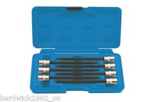 Estrella Torx Ball Final Socket Bit Set T10 T15 T20 T25 T27 T30 T40 100mm De Largo + Estuche