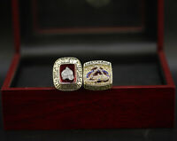 2pcs 1996 2001 COLORADO AVALANCHE Stanley Cup Championship Ring with Box