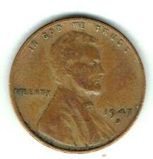 1947-D Denver Circulated Business Strike Copper One Cent Coin!