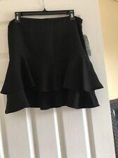 Ralph Lauren Black Margarida Ruffle Skirt. Size 10P. NWT!!