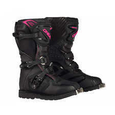 Oneal Motocross/Offroad Rider Womens Boots BLACK& PINK SIZE 9