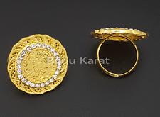 Tugra Yüzük 22 Ayar Altin Kaplama Ceyrek Gold Coins Ring Gold Ring Gelin Henna
