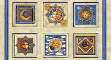 "Sun & Moon Panels-Celestial So l 100% Cotton Fabric Panel 44"" X 24"""