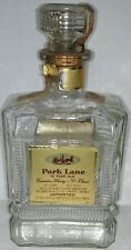 1951 Park Lane Canadian Whisky Whiskey glass bottle Jas. Barclay Detroit stamps